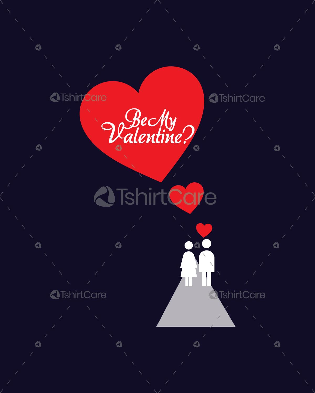 Be my valentine Couple T shirt Design TshirtCare