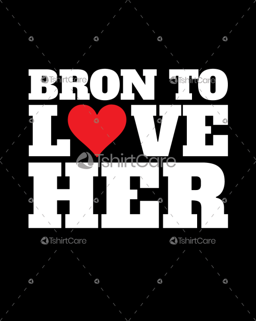 Born to love her Valentine's Day T shirt Design for Gift