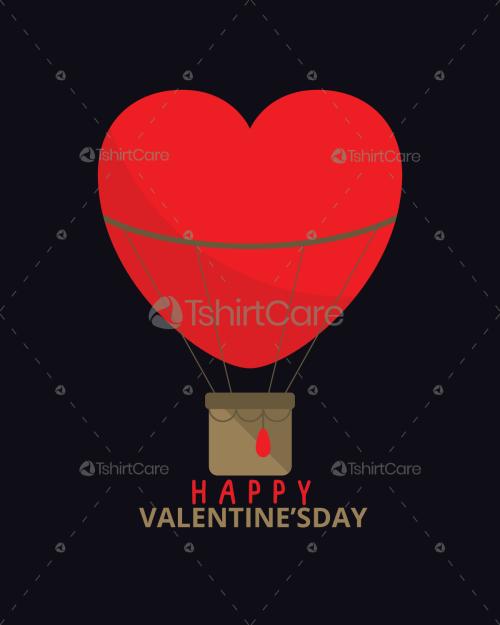 Happy Valentine's Day Heart T Shirts Design