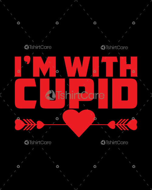 I am Cupid Valentine's Day T shirt Design for Gift
