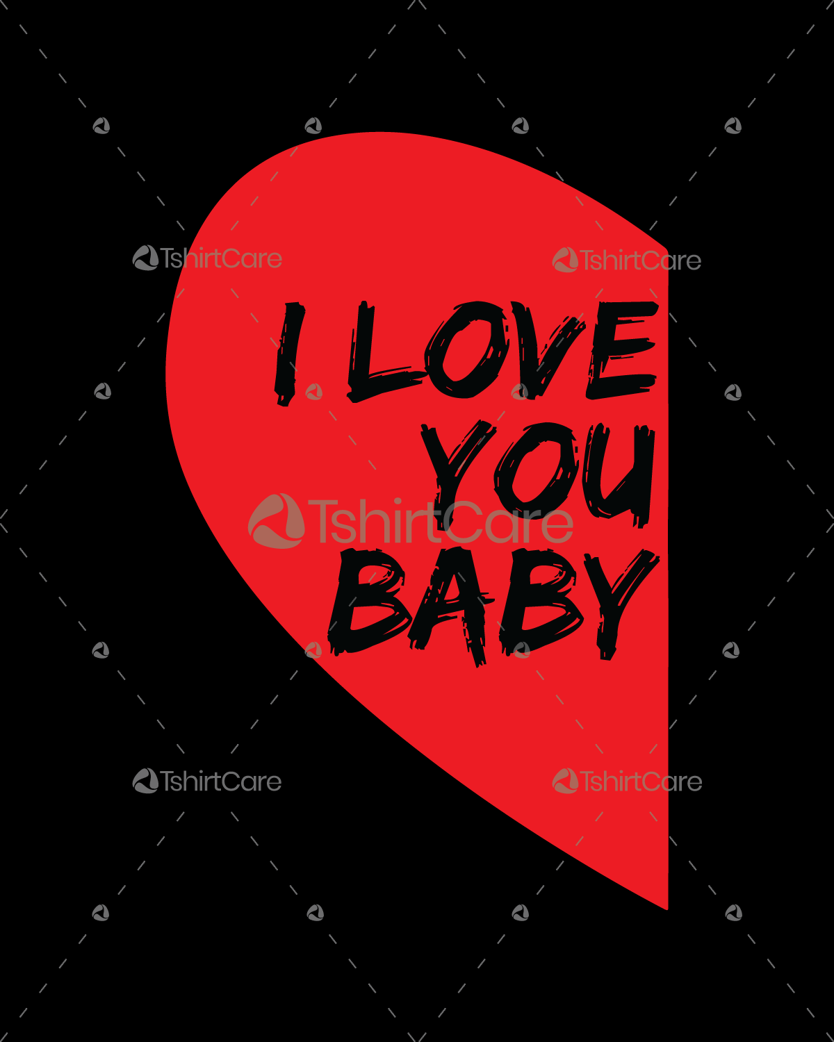 I love you baby T shirt Design Valentine's Day Tee Gift