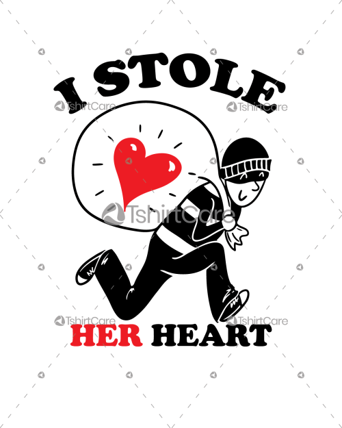 I Stole Her Heart Funny Valentine Day T shirt Design Gift