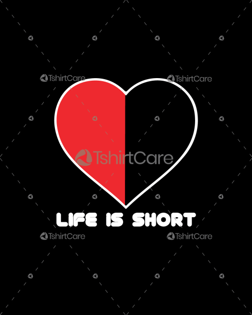 Life is short funny Valentine's Day T-Shirt Design Gift