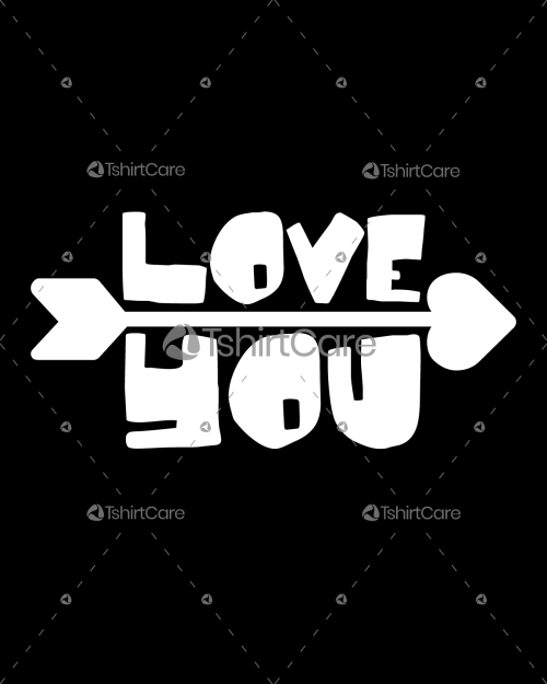 Love you with arrow T shirt Design Valentines Day Tee