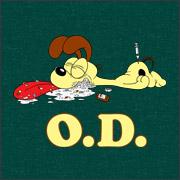 garfield odie OD porody spoof shirts