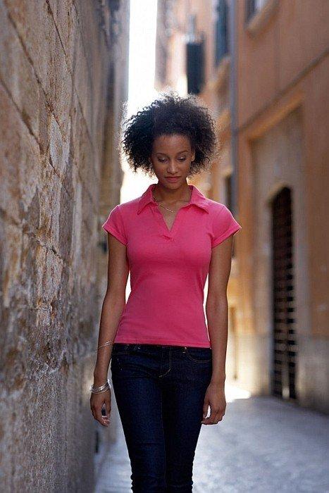 Γυναικείο μπλουζάκι rib πόλο Fruit of the Loom