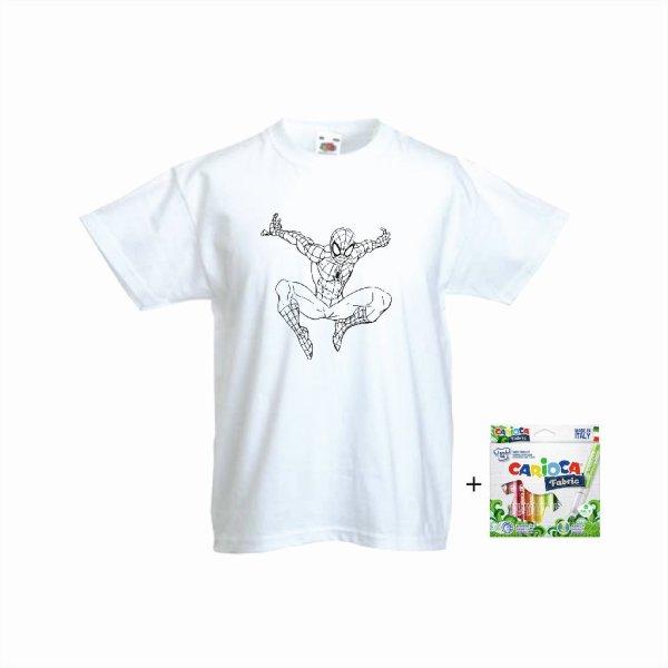 Μπλουζάκι τυπωμένο μαζί με μαρκαδόρους ειδικούς για ύφασμα για να το χρωματίσετε μόνοι σας!