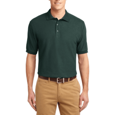 Short Sleeve Polo Shirt Bottle Green