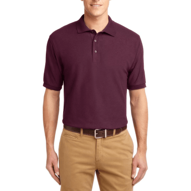 Short Sleeve Polo Shirt Maroon