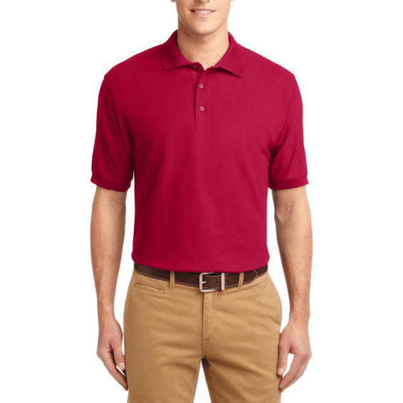 Short Sleeve Polo Shirt Red