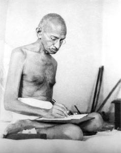 Gandhi writing
