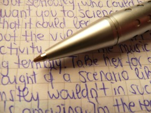 Pen and longhand writing