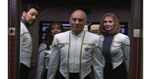 Riker, Troi, Picard, and Crusher in Insurrection
