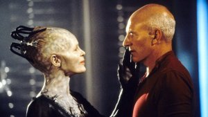 Picard and the Borg Queen