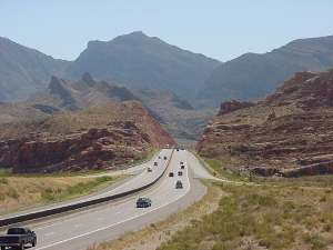 I-15 into Virgin River Gorge