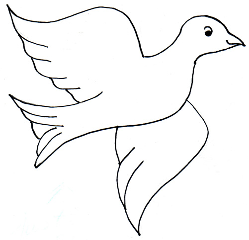cut out birds colouring pages
