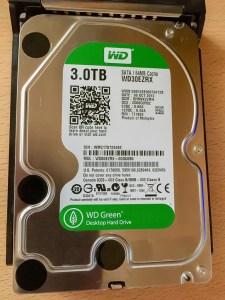 Die im alten Acer-Homeserver verwendeten WG Green-Platten