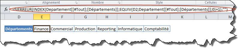 Transposer un tableau en utilisant les fonctions de recherche INDEX et EQUIV