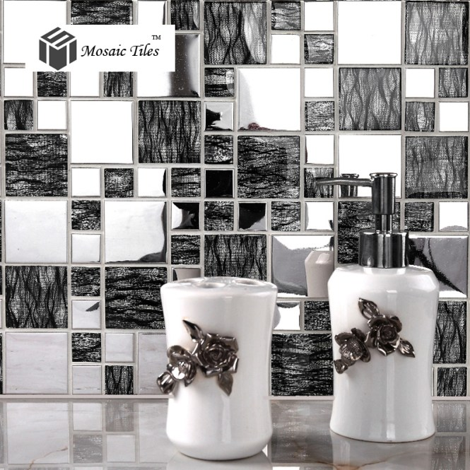Circle Mosaic Backsplash Metal Interior Wall Decoration Material