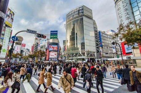 Shibuya Crossing; photo by Les Taylor