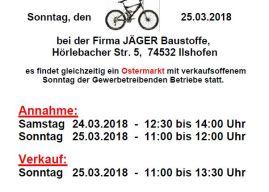 Fahrrad-Basar 24.03 & 25.03.2018