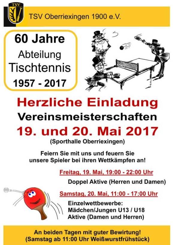 Vereinsmeisterschaft Tischtennis