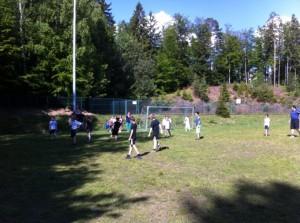 Schulfest Fußballspiel