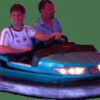 Autoscooter mit Björn und Frank