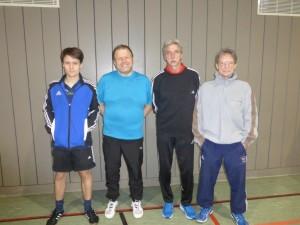 Von links: Kilian Luksch, Sepp Eiter, Georg (Jack) Lippl, Martin Glagow