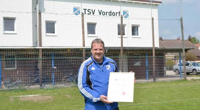 Glenn Köhler macht 200. Spiel für TSV Vordorf Alte Herren