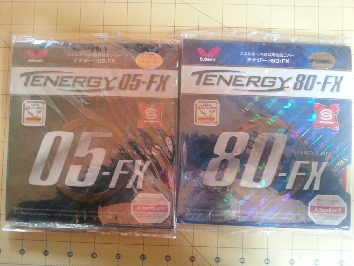 Butterfly Tenergy 80 FX vs. Tenergy 05 FX