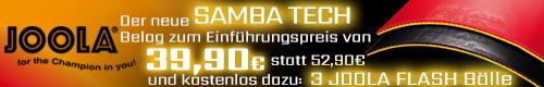 Joola Samba Tech Banner
