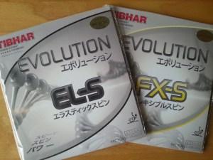 Tibhar Evolution EL-S und Tibhar Evolution FX-S mit Verpackung