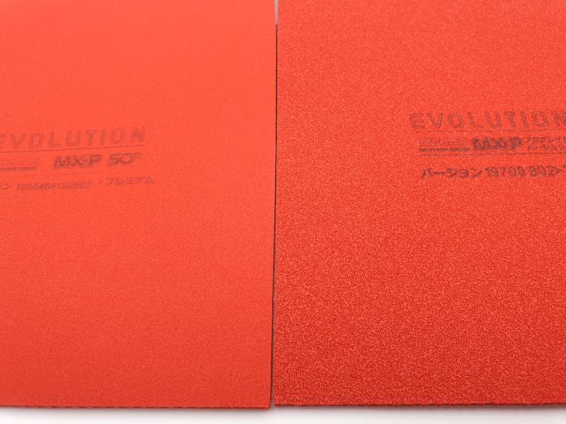 Tibhar Evolution MX-P50 vs MX-P Schwamm Vergleich