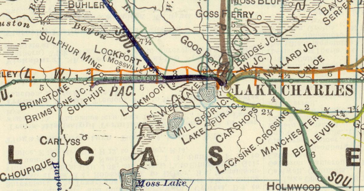 Lake George Map Louisiana