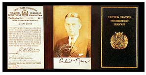 photo of Eliot ness' credentials
