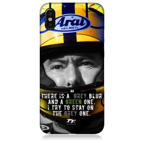 Isle of Man TT Joey Dunlop Grey Blur Quote Case