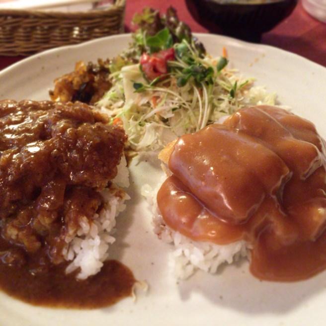 レストランナカタ — 長岡名物「洋風カツ丼」と「カツカレー」のハーフアンドハーフを食す!!