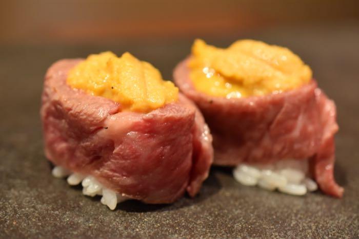 寿司さいしょ — 肉とウニの軍艦「うにく」がヤバすぎる!銀座の中心で魚と肉のありえないコラボ寿司に悶絶す!!