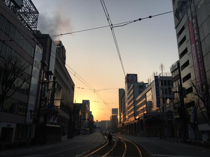 2月最終日熊本旅ラン!どっと疲れが出て1kmで終了 2月は117km走ったぞ!!  [2016年2月 熊本旅行記 その5] [ランログ]