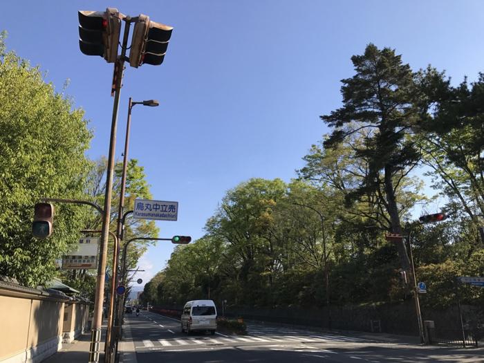 京都御所で早朝ランニング! 新緑の季節は最高! 外周道路も苑内も気持ちが良いぞ!! [京都ランニング]