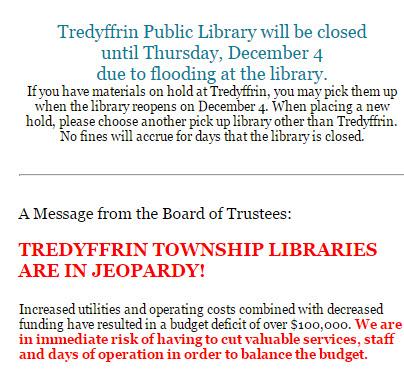 tredyffrin library notice