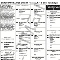 Sample ballots now available for Nov. 3rd election!