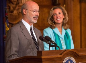 Katie McGinty with Governor Wolf