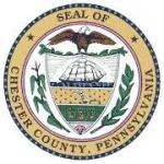 Seal of Chester County Pa Featuring an Eagle, Ship, Cropland with a plow and sheafs of grain