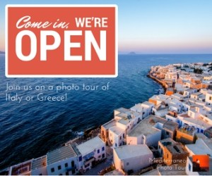 Join us on a photo tour of Italy or Greece