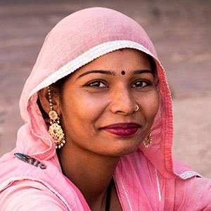Closeup of Young Woman at Fortress Gate - Jodhpur, India - Copyright 2016 Ralph Velasco
