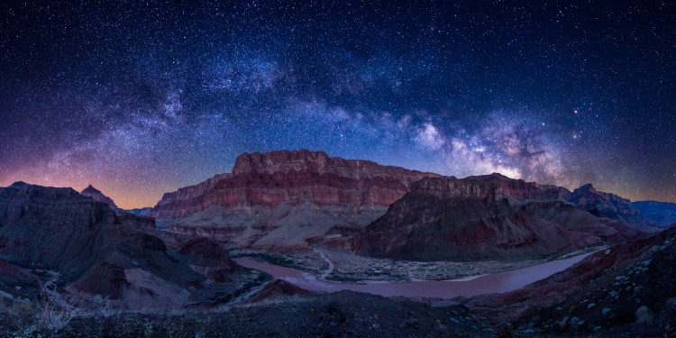 """Nyctophilia"" - Noun - a love or preference for night and darkness. After an adventurous day of rafting down the Colorado River in the Grand Canyon, I hiked up a steep and uncharted ridge to view the night sky in its full glory."