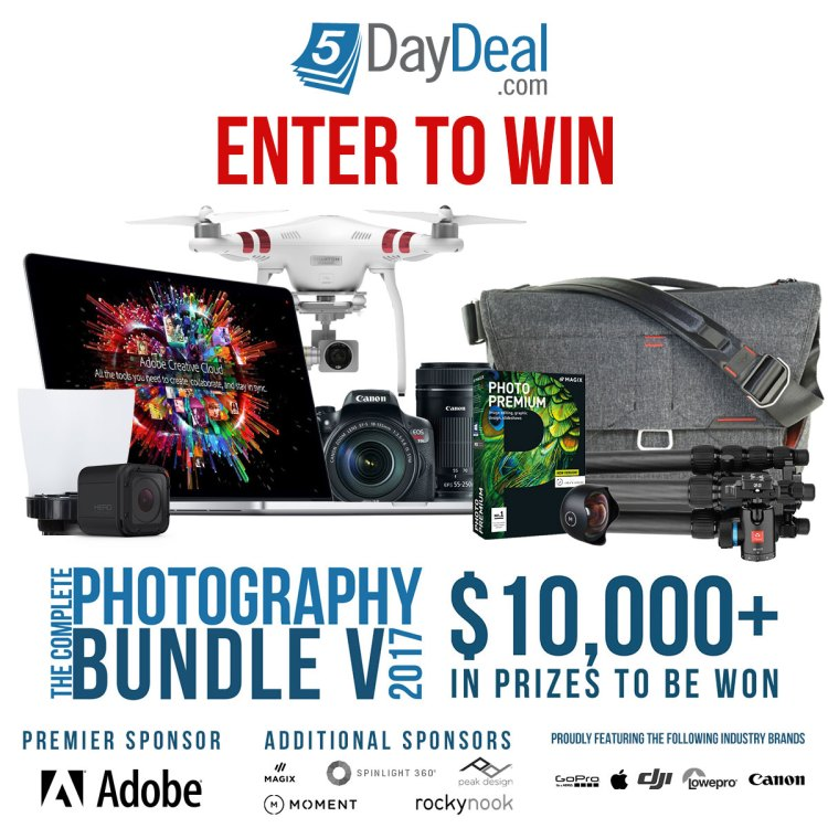 5DayDeal Photography Bundle 2017 Giveaway