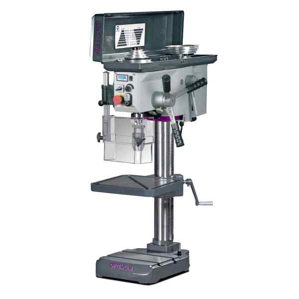 Optimum Stufenlose Tischbohrmaschine mit Bohrmaschinenschraubstock OPTIdrill B 24HV Aktions-Set